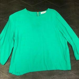 Anthropologie bright green tunic